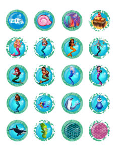 photograph regarding Mermaid Template Printable named Cost-free Mermaid Princess Bash Printables Fin Entertaining Web site
