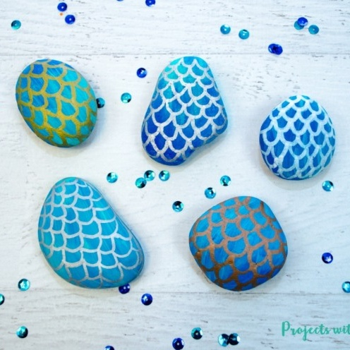 mermaid painted rocks