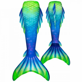 the front and back view of the Northern Lights Atlantis mermaid tail